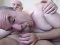 Older man vidz playing with  super the other grandpa dick