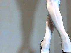 dodo in vidz weissen glanznylons  super und heels