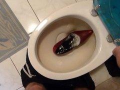 Piss in vidz wifes red  super stiletto heel