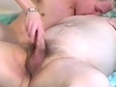 Older man vidz and a  super young boy playing with each other