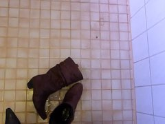 Piss in vidz wifes brown  super leather boot