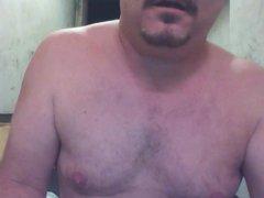 JoeyD posing vidz naked with  super Hitachi on balls and curvy butt