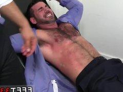 Big black vidz gay male  super sexy feet first time