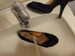 Piss in vidz black peep  super toe