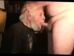 Grandpa eating vidz the other  super man's sperm