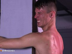 Gay Bondage vidz BDSM Russian  super Twink Tortured Whipping Dildo Fuck