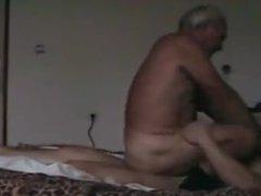Grandpa rides vidz on the  super other man's penis