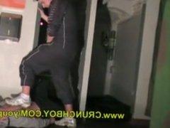 Sneaker sextape vidz with a  super guy in joggin snif skets