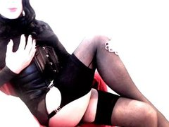 Kinky Crossdresser vidz Stocking Heels  super Lingerie Latex PVC Fetish