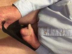 72 year vidz old man  super wanking and cumming in wife's knickers