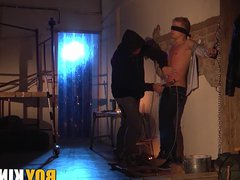 Cute blonde vidz twink gets  super tortured and humiliated by his master