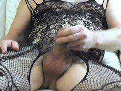 Sexy body vidz stocking and  super butt plug fun.