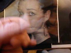Cum tribute vidz on 18  super yo Amandas face pic from my 18 yo dick