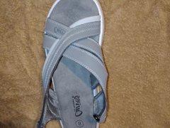 Sport sandal vidz gets cum  super covered