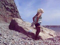 Panty change vidz on beach