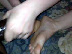 Best Friend vidz Red Sparkle  super Toes Footjob