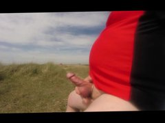 Public wanking vidz on the  super beach