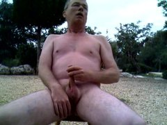 Richard Crowe vidz Naked Wanks  super and Cums in the Open Air