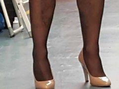 Stockings, tights, vidz high heels  super & cum slideshow