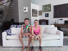 GayCastings - vidz Threesome gay  super pride casting fuck