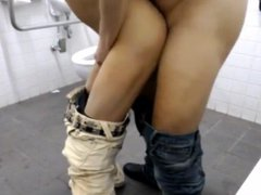 Bareback Fucking vidz with Stranger  super in Public Toilet