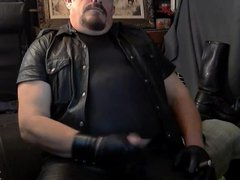 Leather and vidz Cigar Dad  super Cums
