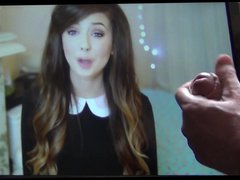 Youtuber Zoella vidz admits she  super likes cum on her face..so i did