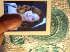 Cumming on vidz Emma Stone's  super Face