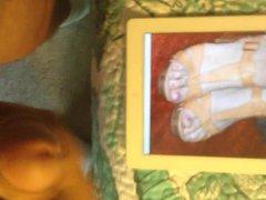 Cumming on vidz Lana Del  super Rey's Feet