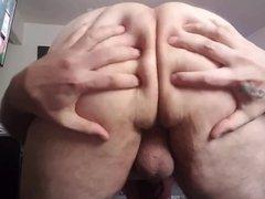 Massaging my vidz ass