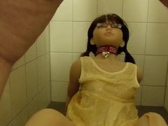 Peeing on vidz Laura