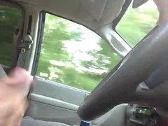 Masturbating while vidz driving