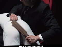 MormonBoyz-Spanked and vidz milked by  super hot older man in a suit
