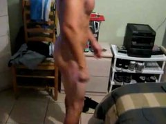 Fit Young vidz White Guy  super Shows Cock and Ass to Friend