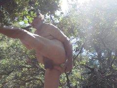 transvestite man vidz fisting anal  super cucumber foret outdoors 67