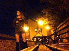 tranny flashing vidz in public