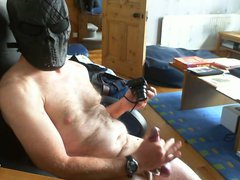 Wank with vidz cock rings  super and mask
