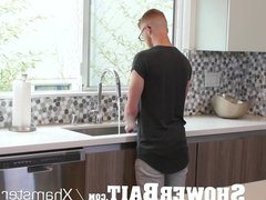 ShowerBait Str8 vidz Zach Covington  super shower fucked by Wesley Woods