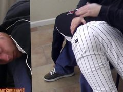 Eric Spanked vidz in Baseball  super Gear