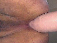 Huge anal vidz dildo on  super wall