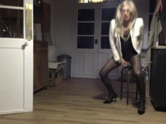 TRAVESTI CD vidz TS TV  super SISSY EXHIB COLLANTS PANTYHOSsmoking sexy