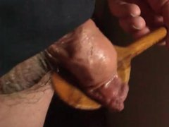 Large wooden vidz spoon stretches  super foreskin - 5 more videos