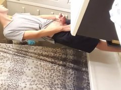 Caught my vidz brother jerking  super a load into the sink