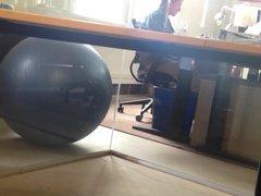 caught the vidz CFO jerking  super under his desk at work