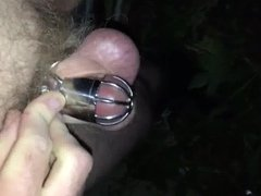 Chastity bound vidz trying to  super masturbate