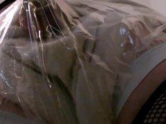 sissy crossdresser vidz in fishnets  super diaper flooding