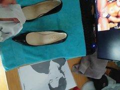 Cum on vidz my hot  super aunt's stolen High Heels and stolen Panties