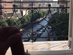 Hotel and vidz balcony jerking