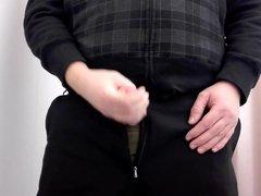 Masturbating in vidz Changing room  super with CUM