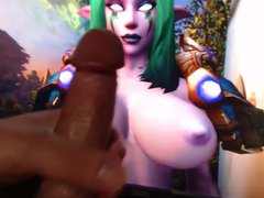 Sexy Night vidz Elf Cum  super Tribute WoW